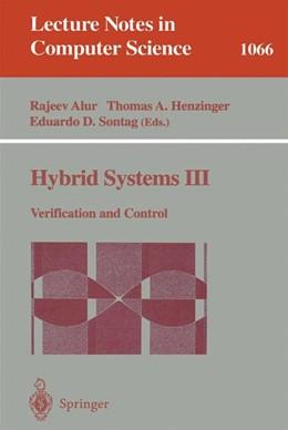 Abbildung von Alur / Henzinger / Sontag | Hybrid Systems III | 1996 | Verification and Control | 1066