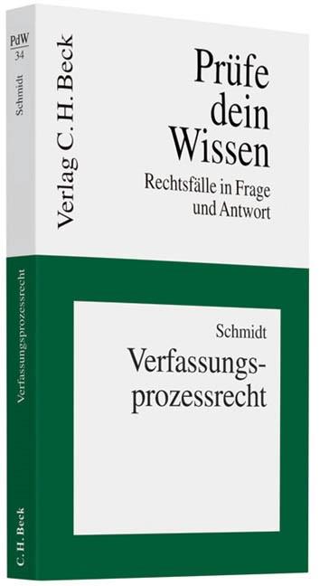 Abbildung von Schmidt | Verfassungsprozessrecht | 2010