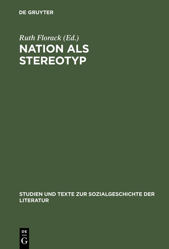 Abbildung von Florack | Nation als Stereotyp | Reprint 2013 | 2000