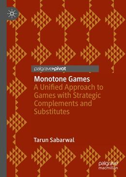 Abbildung von Sabarwal | Monotone Games | 1. Auflage | 2020 | beck-shop.de