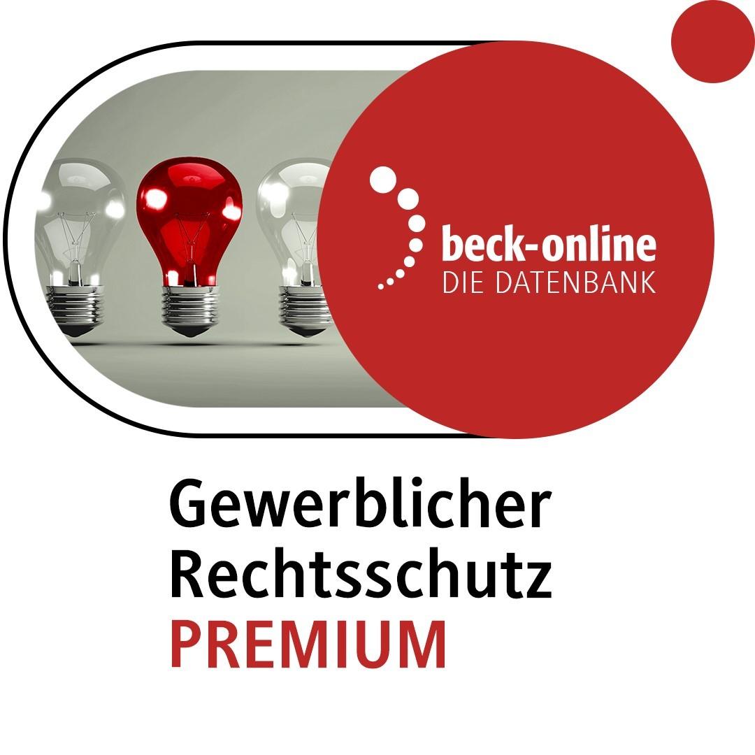 beck-online. Gewerblicher Rechtsschutz PREMIUM, 2009 (Cover)