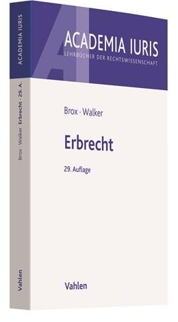 Abbildung von Brox / Walker   Erbrecht   29. Auflage   2021   beck-shop.de