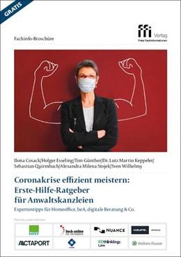 Abbildung von Cosack / Esseling | Corona-Krise effizient meistern: Erste-Hilfe-Ratgeber für Anwaltskanzleien | 1. Auflage | 2020 | beck-shop.de
