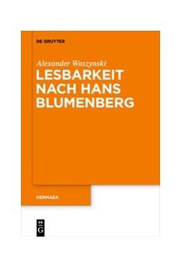 Abbildung von Waszynski | Lesbarkeit nach Hans Blumenberg | 2020 | 155
