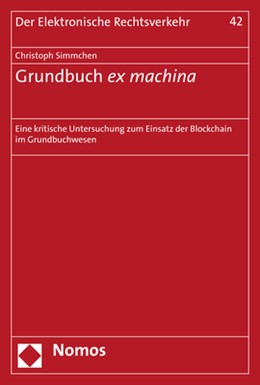 Abbildung von Simmchen   Grundbuch ex machina   1. Auflage   2020   42   beck-shop.de