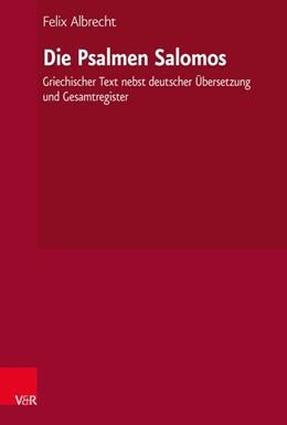 Abbildung von Albrecht   Die Psalmen Salomos   1. Auflage   2020   beck-shop.de