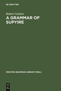 Abbildung von Carlson | A Grammar of Supyire | 1994 | 1994 | 14