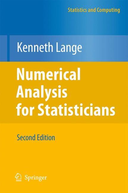 Abbildung von Lange | Numerical Analysis for Statisticians | 2010