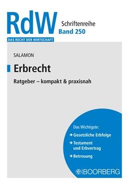 Abbildung von Salamon | Erbrecht | 1. Auflage | 2020 | Ratgeber - kompakt & praxisnah