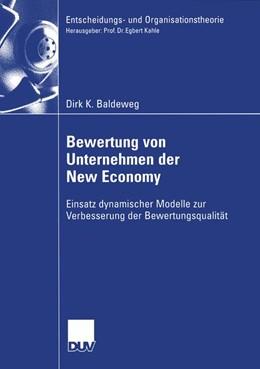 Abbildung von Baldeweg | Bewertung von Unternehmen der New Economy | 2006