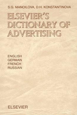 Abbildung von Manoilova / Konstantinova   Elsevier's Dictionary of Advertising   2002