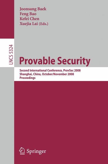 Abbildung von Baek / Bao / Chen / Lai | Provable Security | 2008