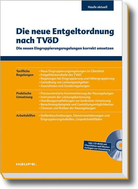 Die neue Entgeltordnung nach TVöD (Cover)