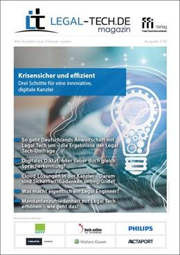 Abbildung von LEGAL-TECH.DE magazin • Ausgabe 1/2020 | 1. Auflage | 2020 | beck-shop.de