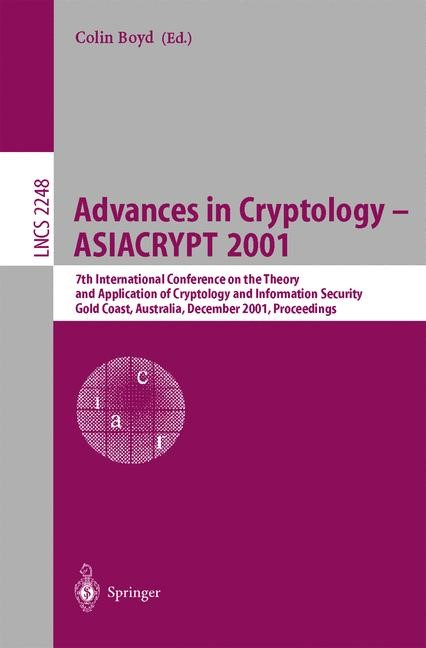 Advances in Cryptology — ASIACRYPT 2001 | Boyd, 2001 | Buch (Cover)