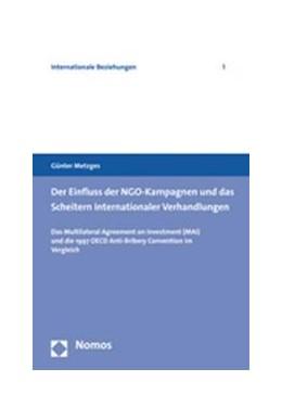 Abbildung von Metzges | NGO-Kampagnen und ihr Einfluss auf internationale Verhandlungen | 2006 | Das Multilateral Agreement on ...