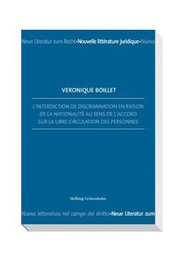 Abbildung von Boillet | L'interdiction de discrimination en raison de la nationalité au sens de l'Accord sur la libre circulation des personnes | 2010