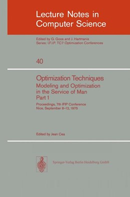 Abbildung von Cea | Optimization Techniques. Modeling and Optimization in the Service of Man 1 | 1976