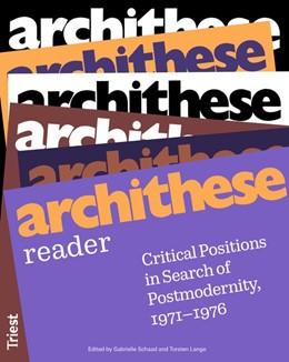 Abbildung von Schaad / Lange | archithese reader | 2020 | Critical Positions in Search o...