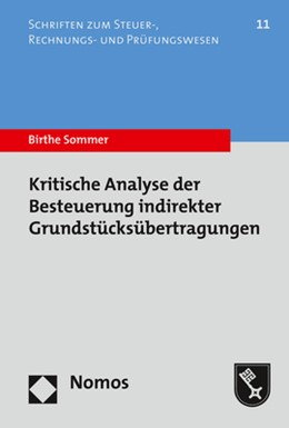 Abbildung von Sommer   Kritische Analyse der Besteuerung indirekter Grundstücksübertragungen   1. Auflage   2020   11   beck-shop.de
