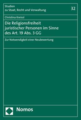 Abbildung von Kreissl | Die Religionsfreiheit juristischer Personen im Sinne des Art. 19 Abs. 3 GG | 1. Auflage | 2020 | 32 | beck-shop.de