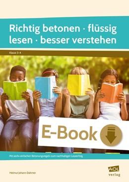 Abbildung von Dahmer | Richtig betonen - flüssig lesen - besser verstehen | 1. Auflage | 2020 | beck-shop.de