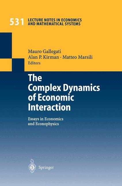 Abbildung von Gallegati / Kirman / Marsili | The Complex Dynamics of Economic Interaction | 2003