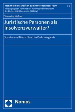 Abbildung von Hefner | Juristische Personen als Insolvenzverwalter? | 1. Auflage | 2020 | 56 | beck-shop.de