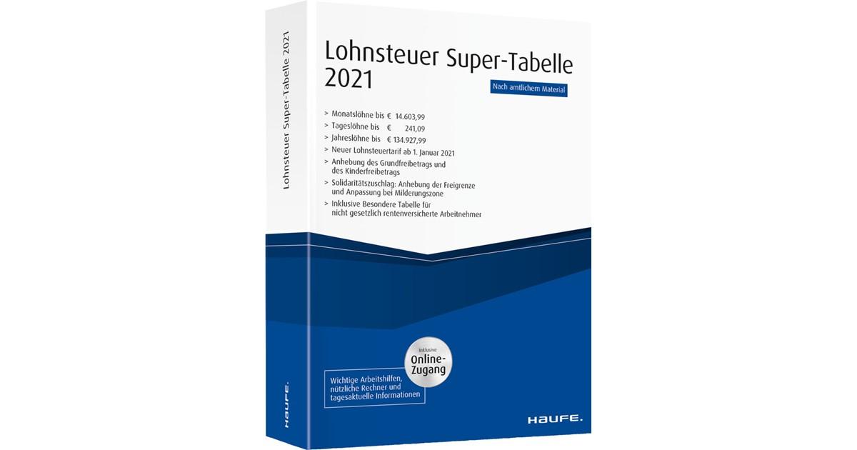 Lohnsteuer-Supertabelle 2021 plus Onlinezugang   1 ...