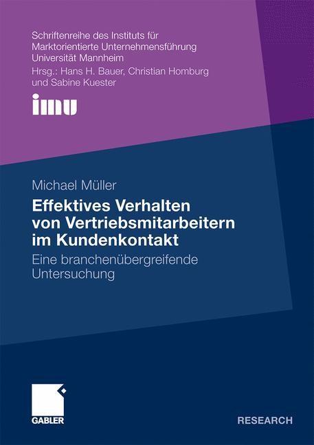 Abbildung von Müller   Effektives Verhalten von Vertriebsmitarbeitern im Kundenkontakt   2010