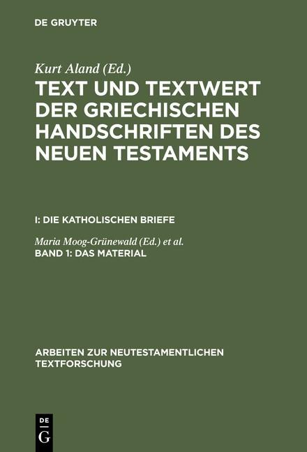 Abbildung von Aland / Benduhn-Mertz / Mink | Das Material | Reprint 2014 | 1987