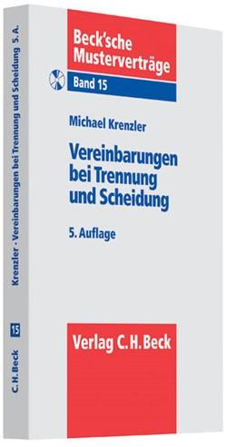 Abbildung von Krenzler   Vereinbarungen bei Trennung und Scheidung   5., überarbeitete Auflage   2013