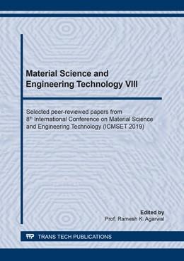 Abbildung von Agarwal | Material Science and Engineering Technology VIII | 1. Auflage | 2020 | beck-shop.de