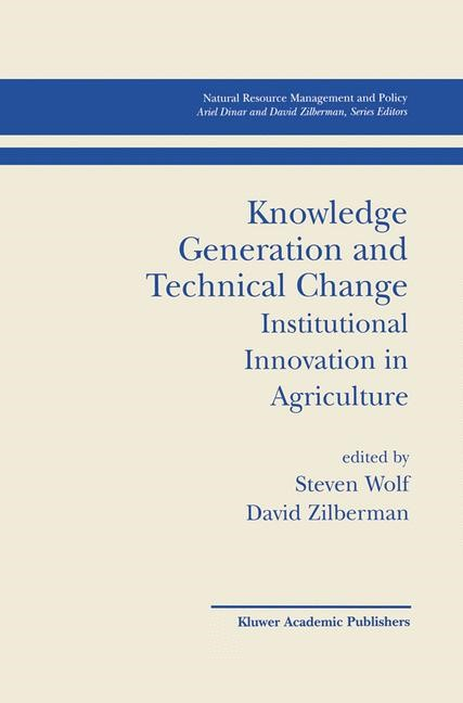 Abbildung von Wolf / Zilberman | Knowledge Generation and Technical Change | 2001