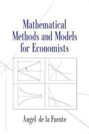 Abbildung von Fuente | Mathematical Methods and Models for Economists | 2000