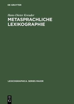 Abbildung von Kreuder | Metasprachliche Lexikographie | Reprint 2015 | 2003 | Untersuchungen zur Kodifizieru... | 114