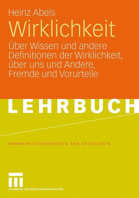 Wirklichkeit | Abels, 2009 | Buch (Cover)