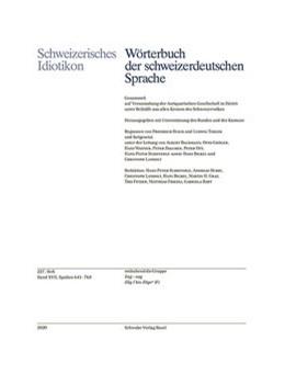 Abbildung von Schweizerisches Idiotikon | 2020 | Band XVII, Heft 227. | 227