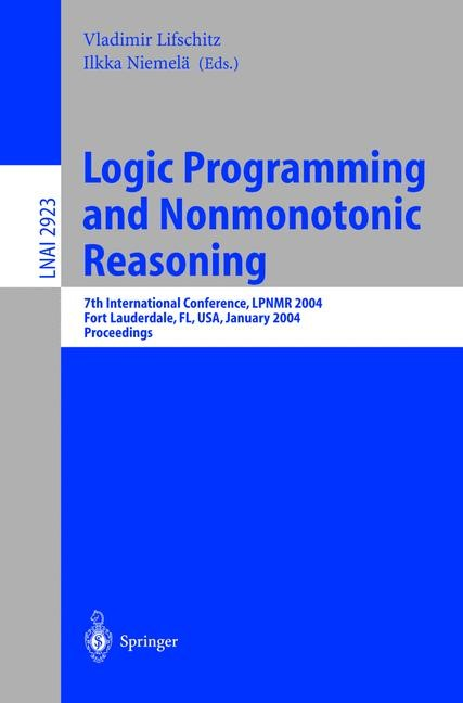 Logic Programming and Nonmonotonic Reasoning | Lifschitz / Niemelä, 2003 | Buch (Cover)