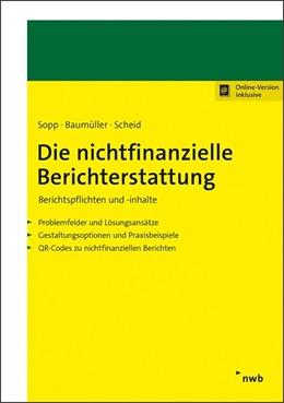 Abbildung von Sopp / Baumüller | Die nichtfinanzielle Berichterstattung | 1. Auflage | 2021 | beck-shop.de