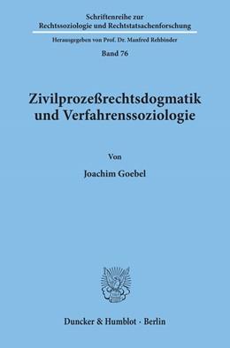 Abbildung von Goebel   Zivilprozeßrechtsdogmatik und Verfahrenssoziologie.   1994   76