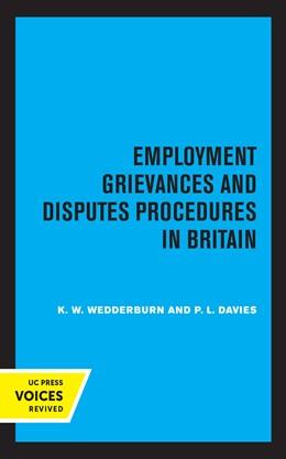 Abbildung von Wedderburn / Davies | Employment Grievances and Disputes Procedures in Britain | 1. Auflage | 2021 | beck-shop.de