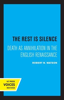 Abbildung von Watson | The Rest Is Silence | 1. Auflage | 2020 | beck-shop.de