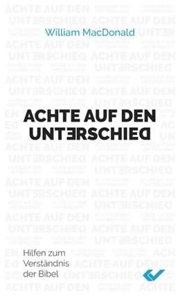Abbildung von Macdonald | Achte auf den Unterschie | 1. Auflage | 2020 | beck-shop.de