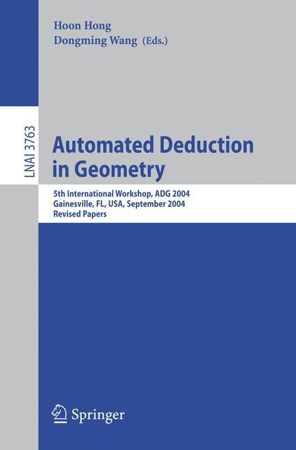 Abbildung von Hong / Wang | Automated Deduction in Geometry | 2006