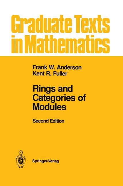 Abbildung von Anderson / Fuller | Rings and Categories of Modules | 1998