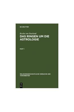Abbildung von Stuckrad | Das Ringen um die Astrologie | Reprint 2011 | 2000 | Jüdische und christliche Beitr... | 49