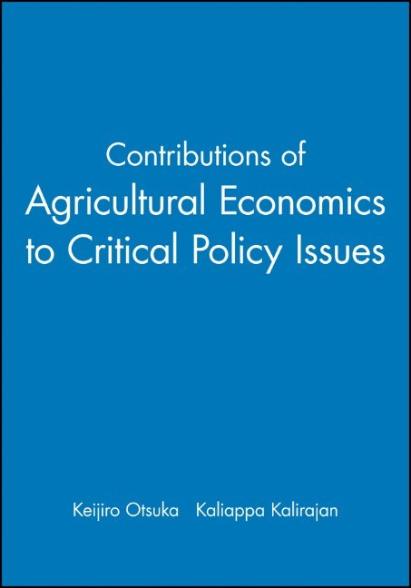 Abbildung von Otsuka / Kalirajan | Contributions of Agricultural Economics to Critical Policy Issues | 2007