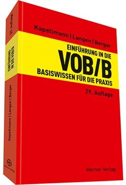 Abbildung von Kapellmann / Langen | Einführung in die VOB / B | 29. Auflage | 2022 | beck-shop.de