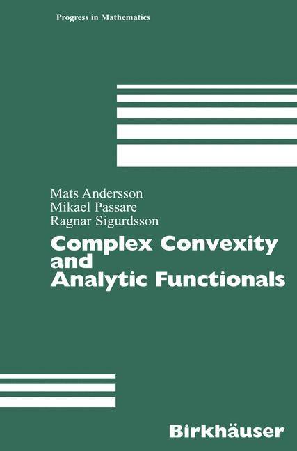Abbildung von Andersson / Passare / Sigurdsson | Complex Convexity and Analytic Functionals | 2004